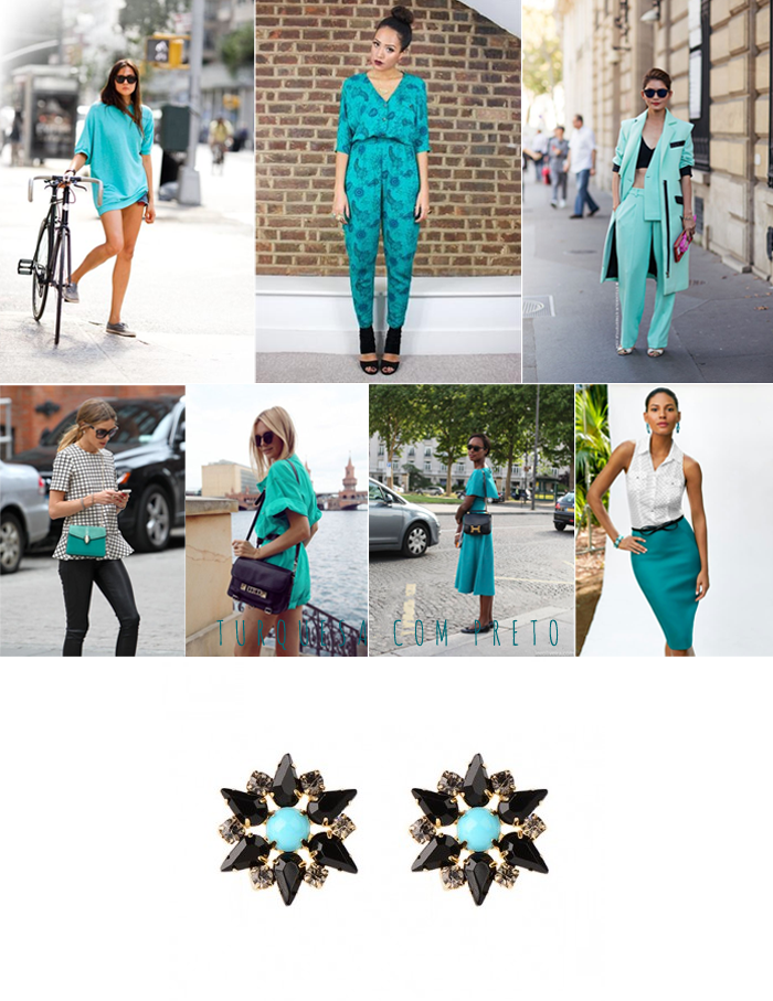 TURQUOISE WITH BLACK
