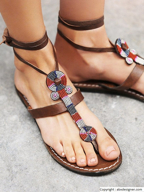 Pikolinos Shoes With Ethnic Motifs