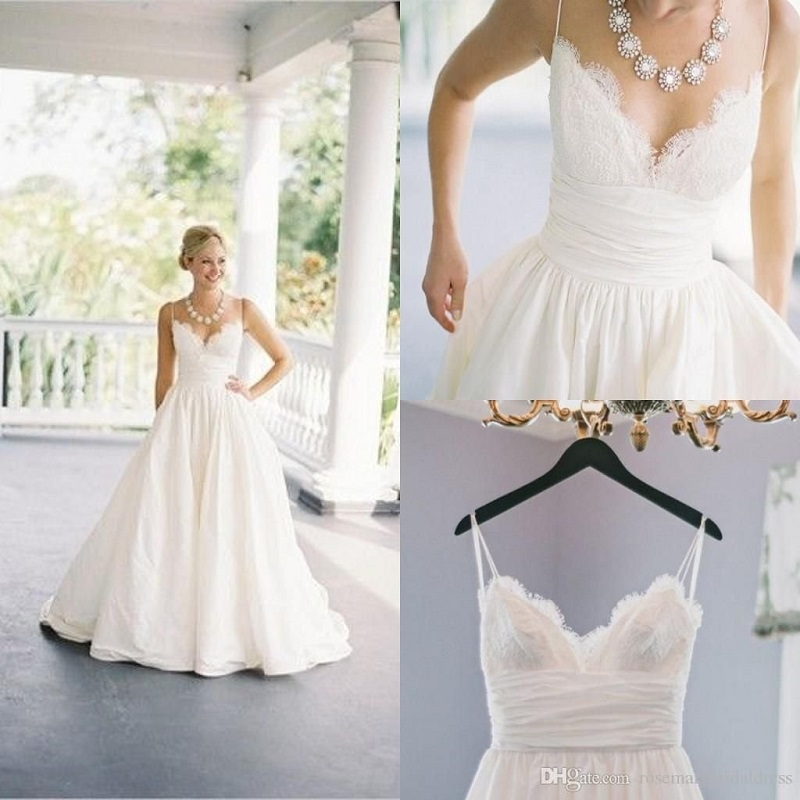Wedding Dresses on Spaghetti Straps