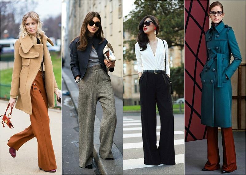 Wide Trousers In Women's Wardrobe