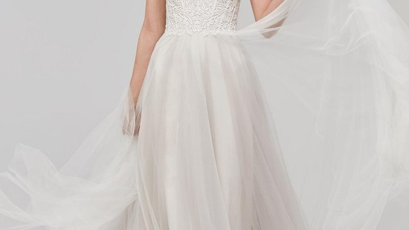 The perfect wedding dress for those with little breasts
